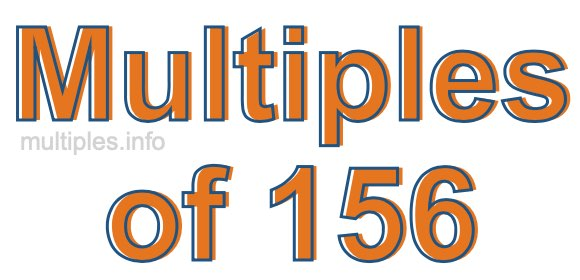 Multiples of 156