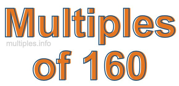 Multiples of 160