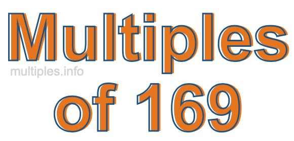 Multiples of 169