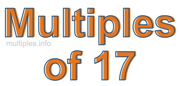 Multiples of 17