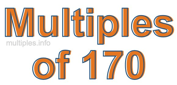 Multiples of 170
