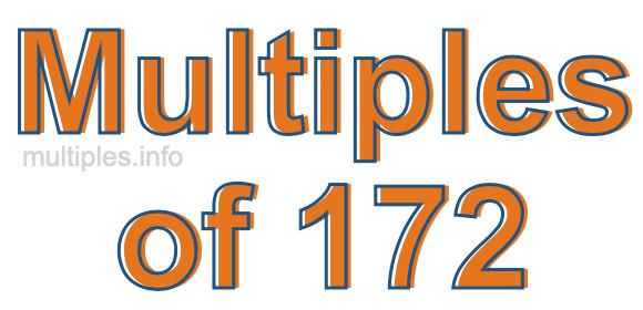 Multiples of 172