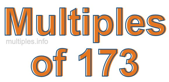Multiples of 173