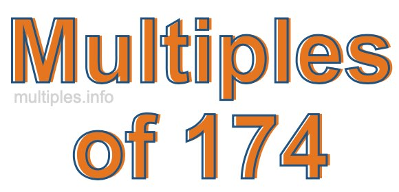 Multiples of 174