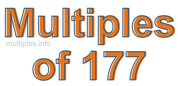Multiples of 177