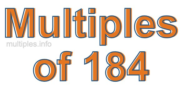Multiples of 184