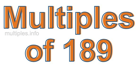 Multiples of 189