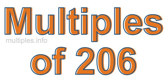 Multiples of 206