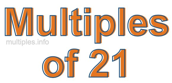 Multiples of 21