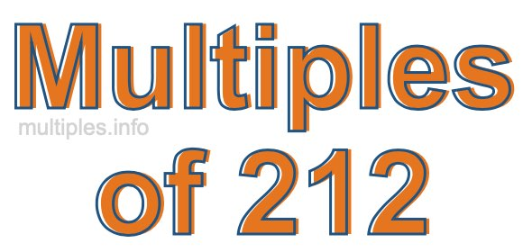 Multiples of 212
