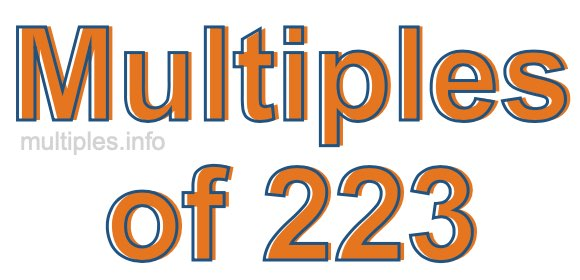 Multiples of 223