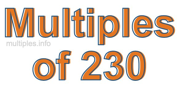 Multiples of 230