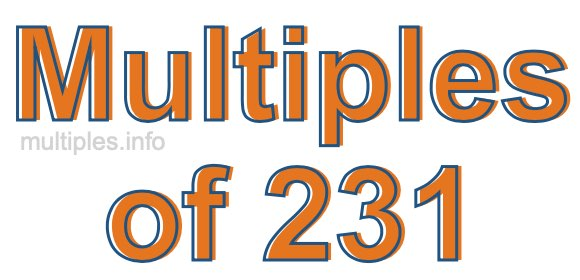 Multiples of 231