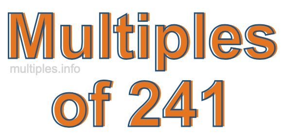 Multiples of 241