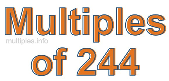 Multiples of 244