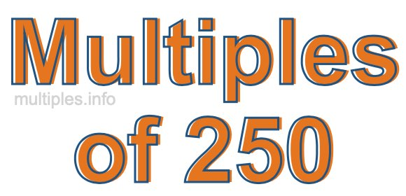 Multiples of 250