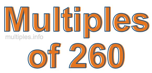 Multiples of 260