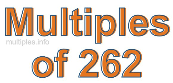 Multiples of 262