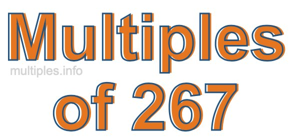 Multiples of 267