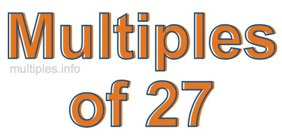 Multiples of 27