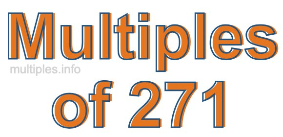 Multiples of 271