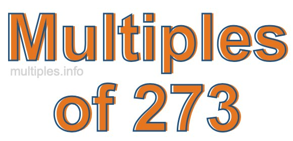 Multiples of 273