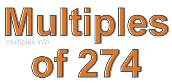 Multiples of 274