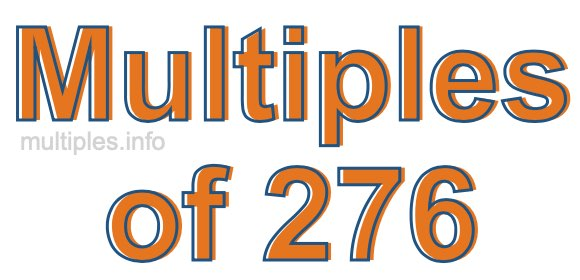 Multiples of 276