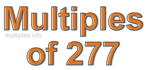 Multiples of 277