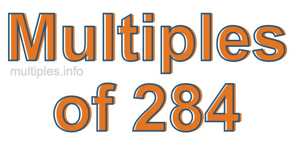 Multiples of 284