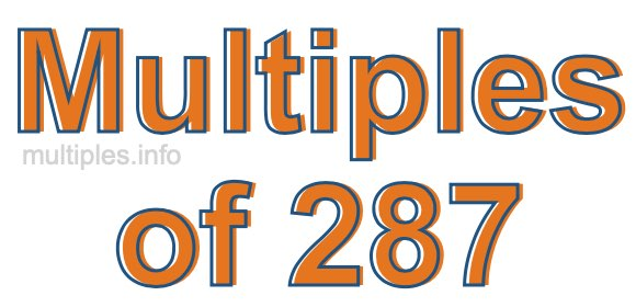 Multiples of 287