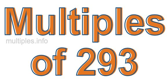 Multiples of 293