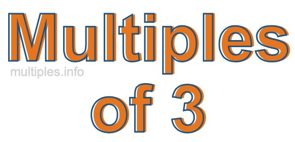 Multiples of 3