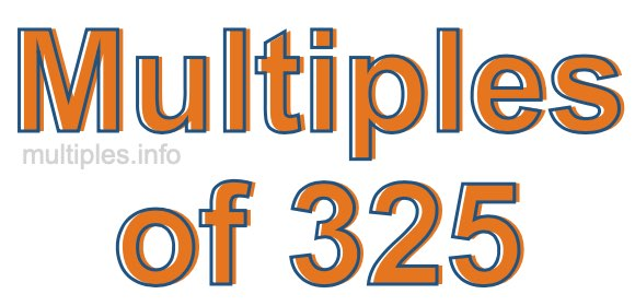 Multiples of 325
