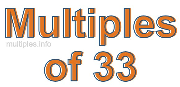 Multiples of 33