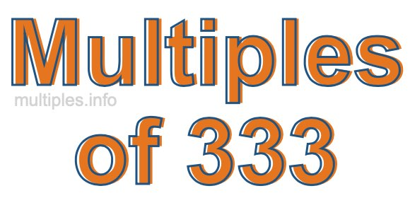 Multiples of 333