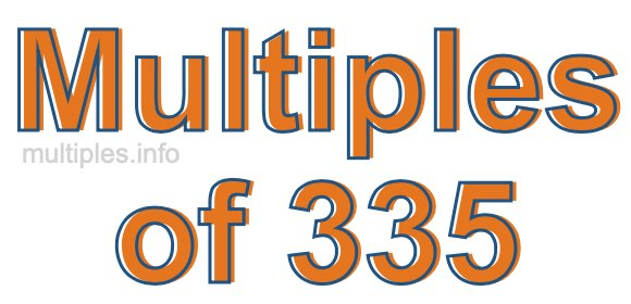 Multiples of 335