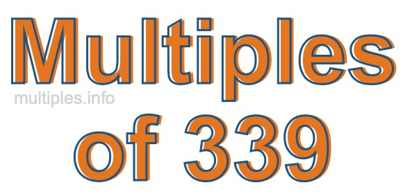 Multiples of 339