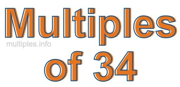 Multiples of 34