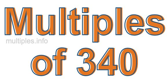 Multiples of 340