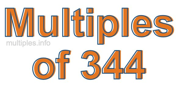 Multiples of 344