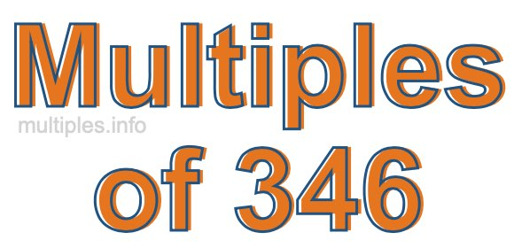 Multiples of 346
