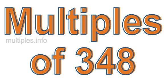 Multiples of 348