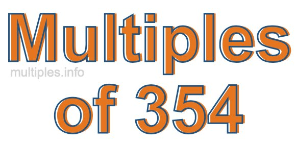 Multiples of 354