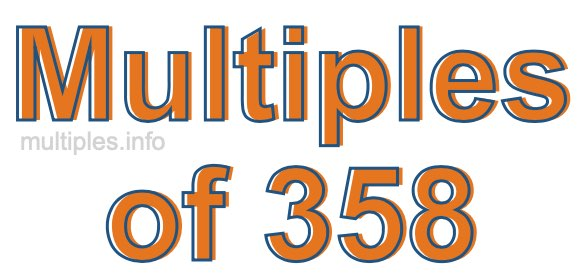 Multiples of 358