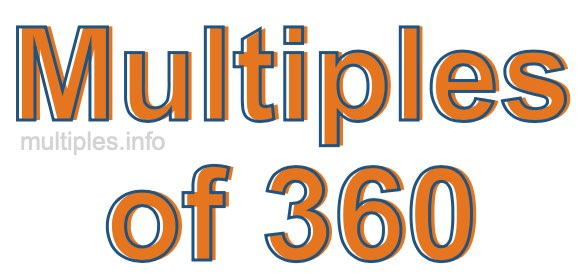 Multiples of 360