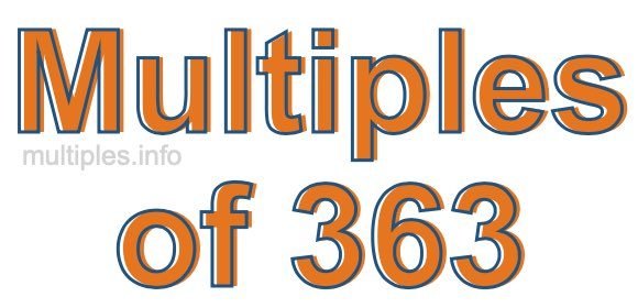 Multiples of 363
