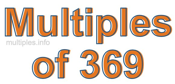 Multiples of 369
