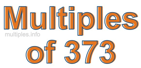 Multiples of 373
