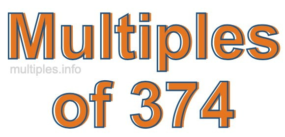 Multiples of 374
